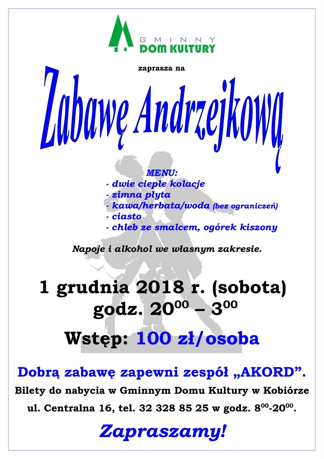 Zabawa Andrzejkowa 2018